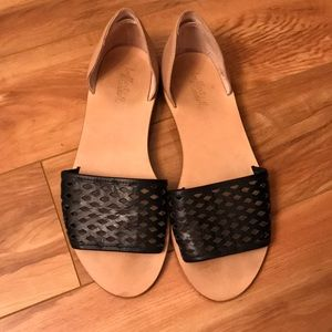 Loeffler Randall flats with leather back
